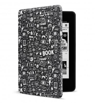 Príslušenstvo k čítačkám Puzdro pre Amazon Kindle Paperwhite 4, doodle POUŽITÉ, NEOPOTREBO