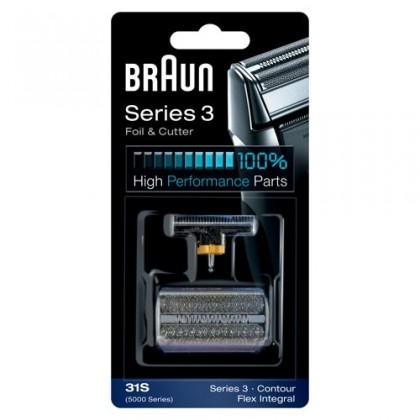 Príslušenstvo k holiacim strojčekom Braun CombiPack FlexIntegral - 31S strieborný