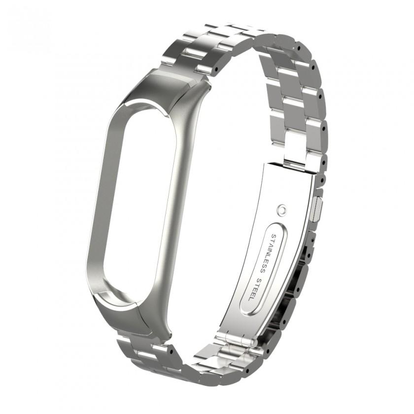 Príslušenstvo k nositelnej elektronike Remienok pre Xiaomi Mi Band 5 oceľ. strieborná