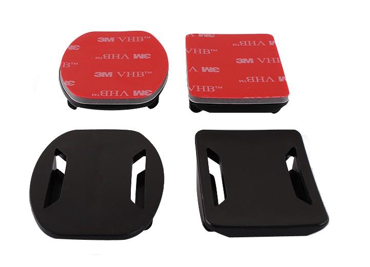Príslušenstvo k outdoor kamerám Súprava nalepovacích držiakov Niceboy, 2rovné, 2 zaoblené (s 3M)
