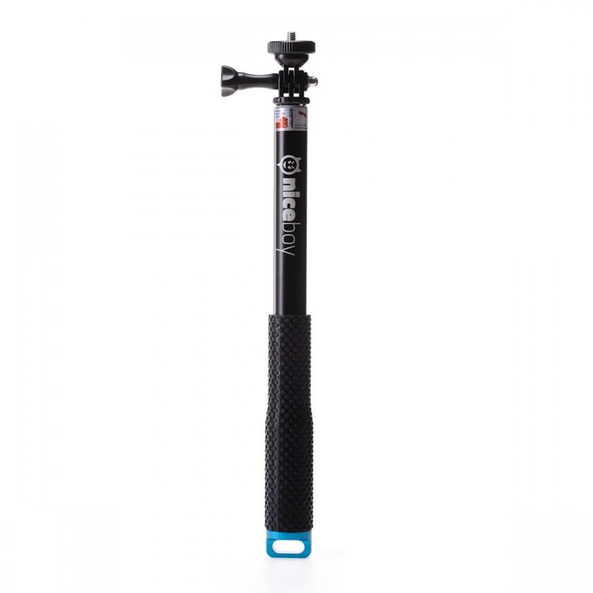 Príslušenstvo k outdoor kamerám Teleskopický držiak Niceboy až 100cm, pre akčné kamery