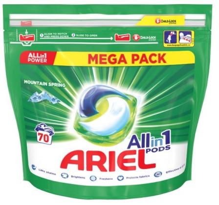 Príslušenstvo k práčkam Gélové kapsuly Ariel A000013392, Mountain Spring, 70ks