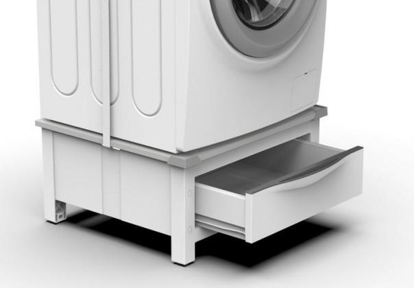 Príslušenstvo k práčkam Podstavec so zásuvkou pre práčku a sušičku Meliconi M656144
