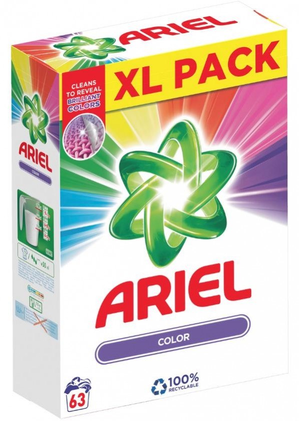 Príslušenstvo k práčkam Prací prášok Ariel A000013366, farebné prádlo, 63 dávok