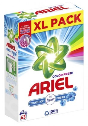 Príslušenstvo k práčkam Prací prášok Ariel A000013367, Touch of Lenor, 63 dávok