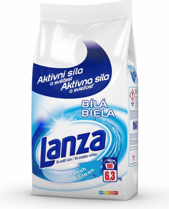 Príslušenstvo k práčkam Prací prášok Lanza A000010388, Fresh & Clean, biele, 6,3kg