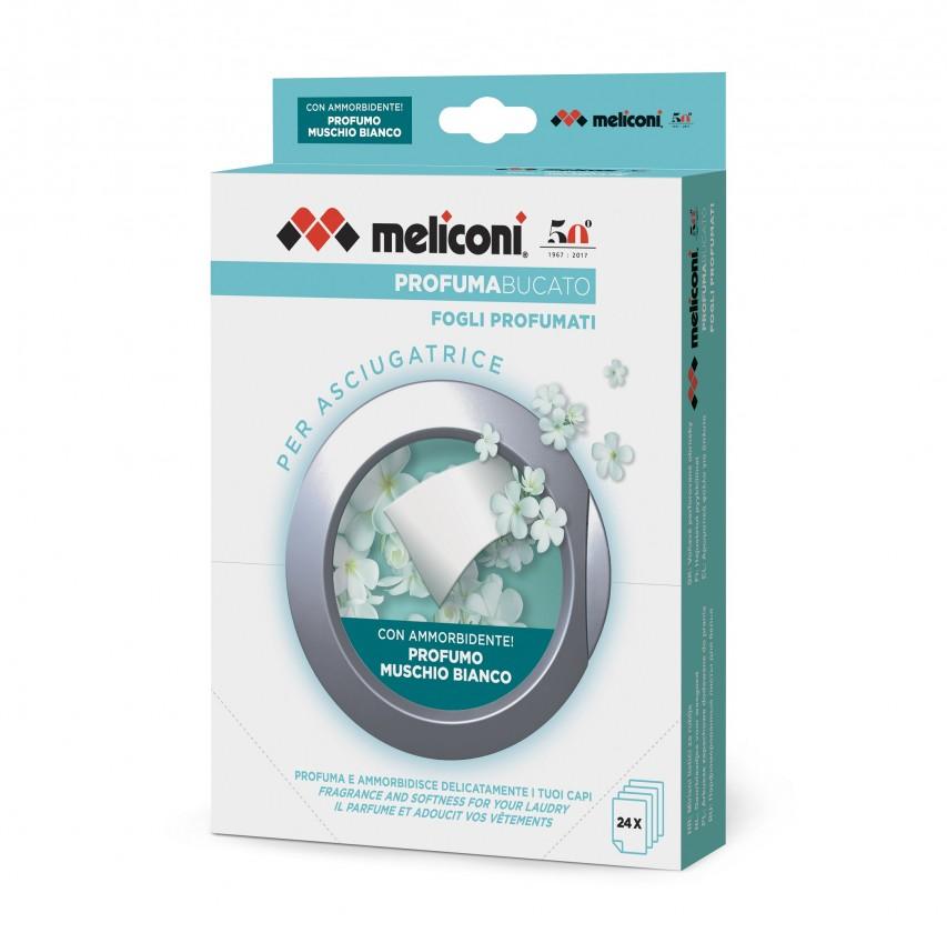 Príslušenstvo k práčkam Vonné obrúsky do sušičky Meliconi M656152, 24ks