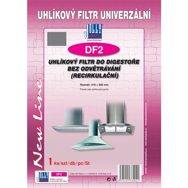 Príslušenstvo pre odsávače pár Uhlíkový filter Jolly DF2