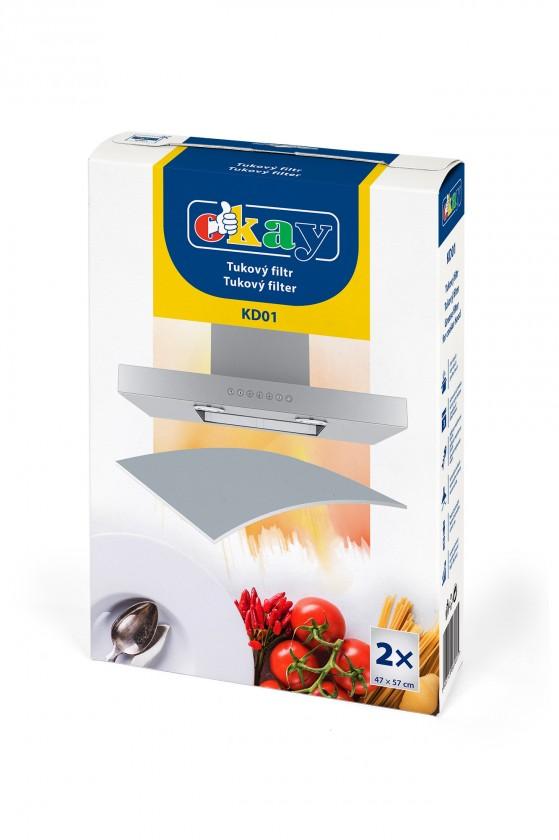 Príslušenstvo pre odsávače pár UNI tukový filter pre odsávače K&M KD01,2x