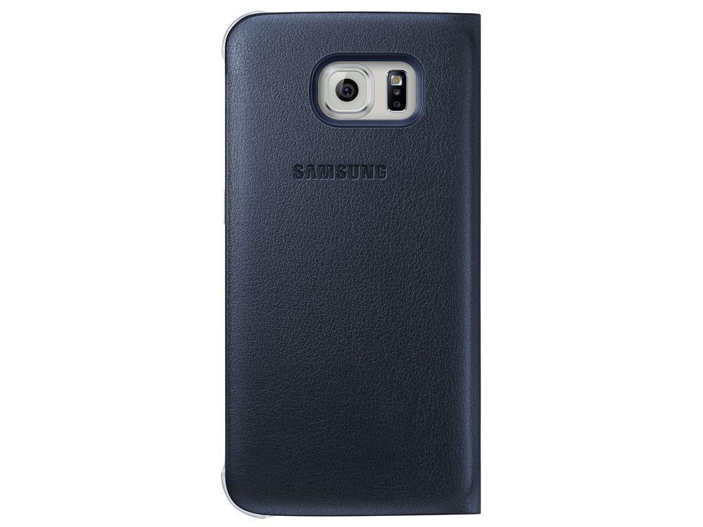Príslušenstvo pre S6 Samsung flip puzdro pre Samsung Galaxy S6 Edge, čierna ROZBALENÉ