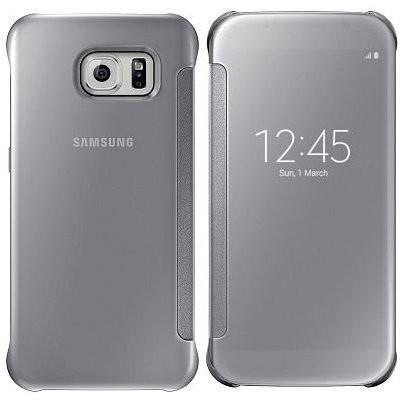 Príslušenstvo pre S6 Samsung flip puzdro pre Samsung Galaxy S6 Edge, strieborná