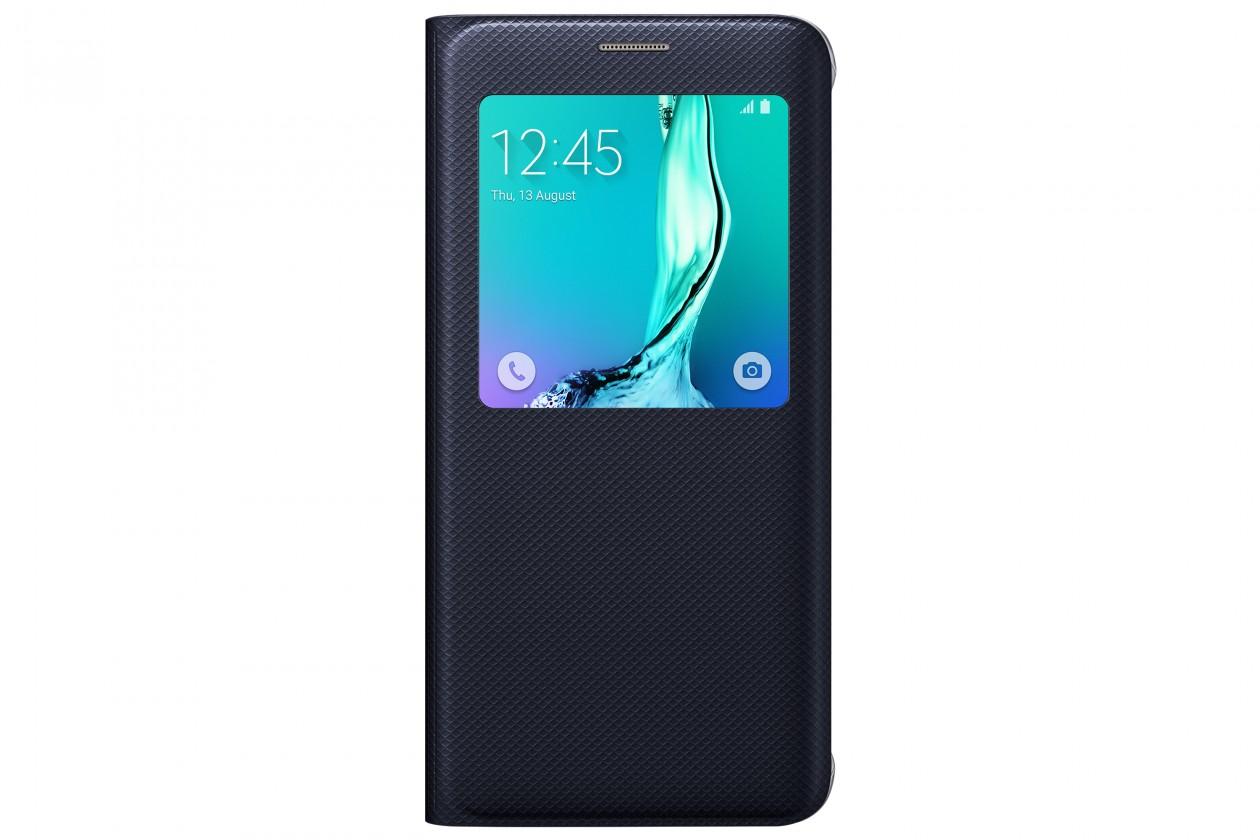 Príslušenstvo pre S6 Samsung flip puzdro pre Samsung Galaxy S6 Edge, tm. modrá