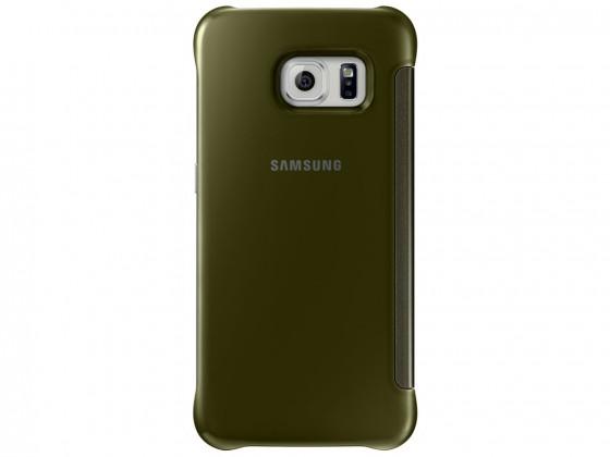 Príslušenstvo pre S6 Samsung flip puzdro pre Samsung Galaxy S6 Edge, zlaty (plast)