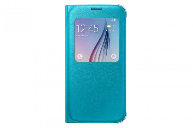 Príslušenstvo pre S6 Samsung flip puzdro pre Samsung Galaxy S6, sv. modrá