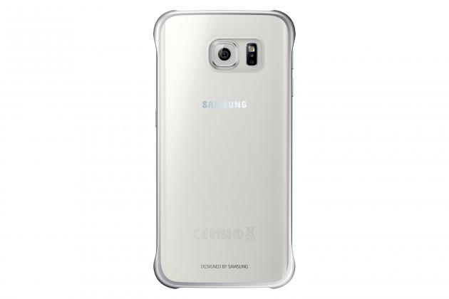 Príslušenstvo pre S6 Samsung gelskin pre Galaxy S6 Edge, transparentná + strieborná