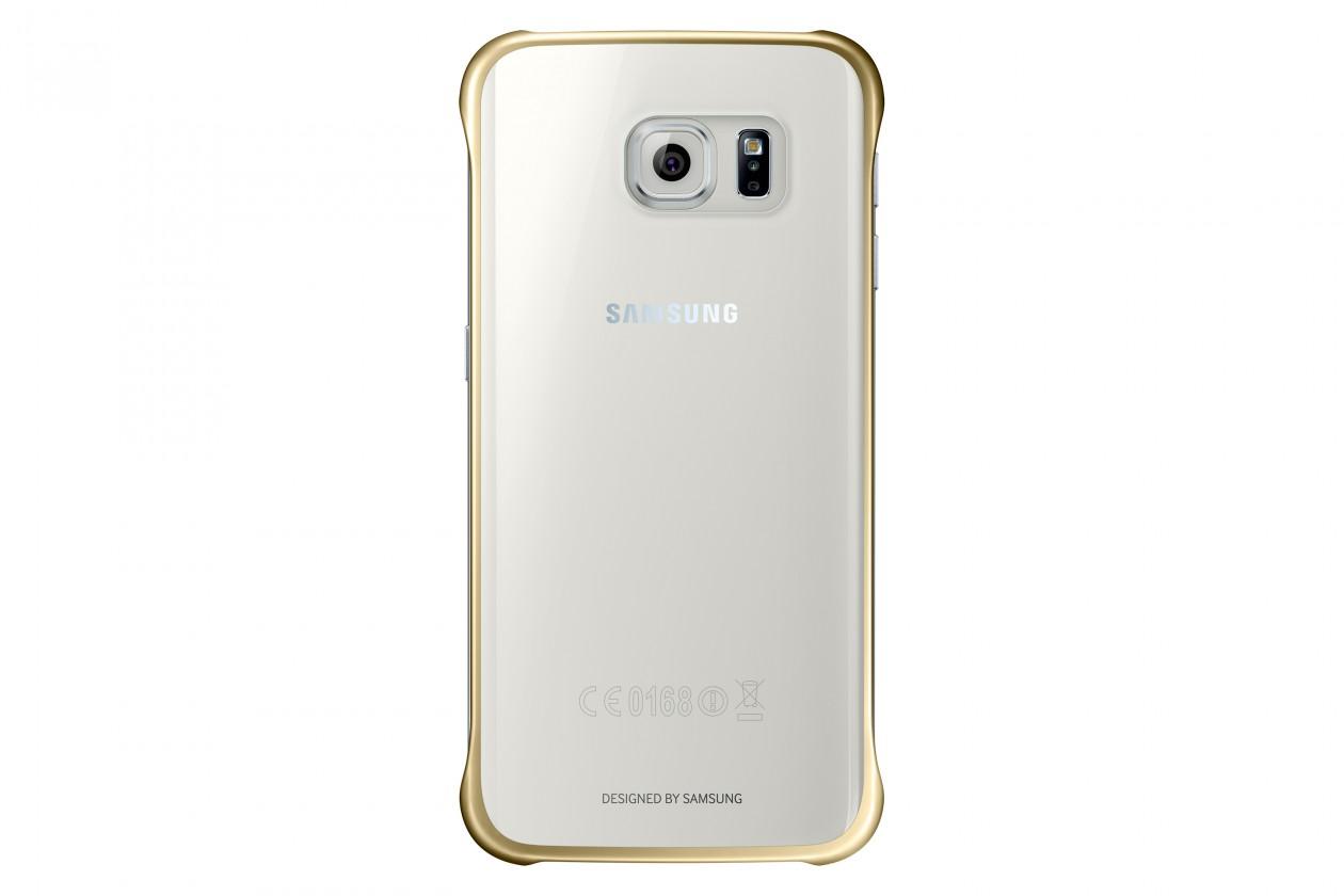 Príslušenstvo pre S6 Samsung gelskin pre Galaxy S6 Edge, transparentná + zlatá