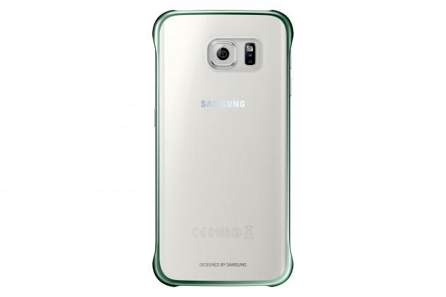 Príslušenstvo pre S6 Samsung gelskin pre Samsung Galaxy S6, transparentná + zelená
