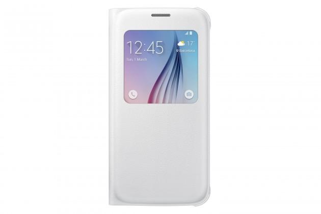 Príslušenstvo pre S6 Samsung puzdro S-View pre Galaxy S6, biele