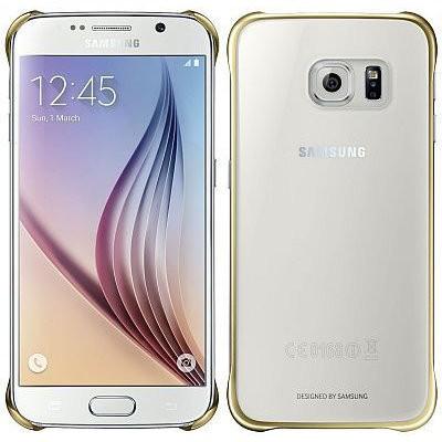 Príslušenstvo pre S6 Samsung Zadní Kryt Clear Gold pro Galaxy S6