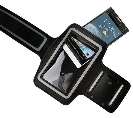 """Príslušenstvo pre šport """"Datram športové puzdro na ruku pre mobily 4-4,8 """""""", čierna"""""""