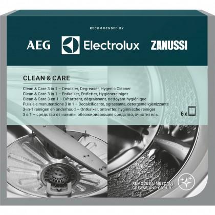 Príslušenstvo pre umývačky Kompletná starostlivosť o pračku AEG Clean and Care, 3v1, 6ks