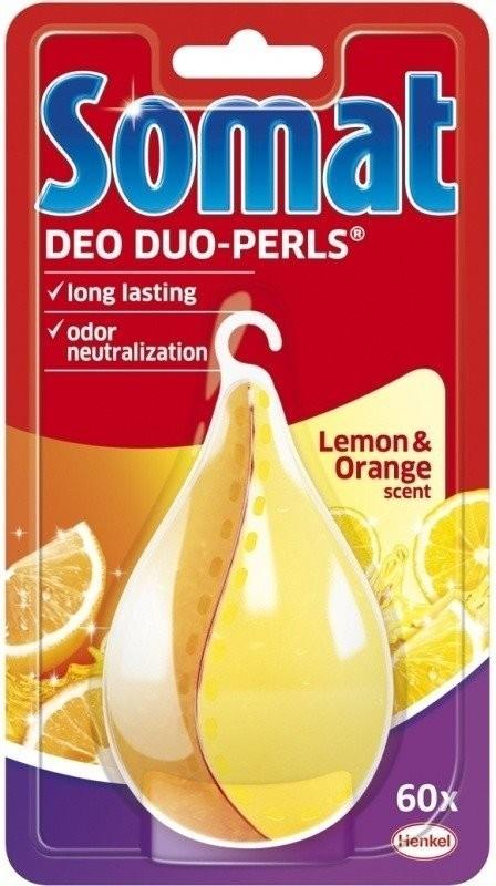 Príslušenstvo pre umývačky Somat Deo Duo Perls Lemon & Orange osvěžovač myčky nádobí 17 g