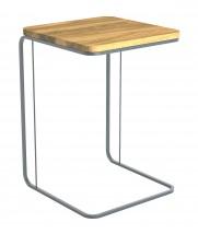 Prístavný stolík Modern (hnedá, šedá)