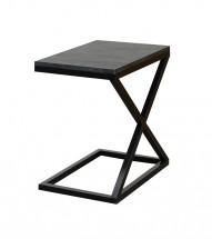 Prístavný stolík ST202009 (sivá/čierna)