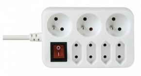 Prodlužovací kabel 3m 3+4 zásuvky vypínač