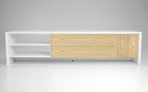 Profil - TV stolík, 5943-454 (biela/dub)