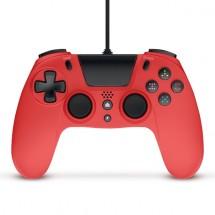PS4 gamepad s káblom Gioteck VX-4, červený