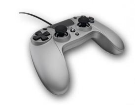 PS4 gamepad s káblom Gioteck VX-4, titánový