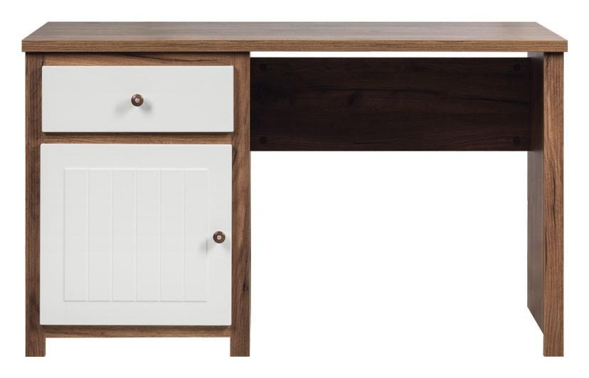 Psací stôl (dub, biela mat)