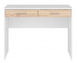 Psací stôl Novara (biela/dub sonoma)