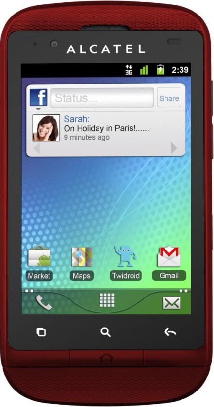 Puzdrá a kryty Alcatel One Touch 918 výmenný kryt, Cherry Red