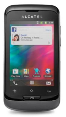 Puzdrá a kryty Alcatel výmenný kryt pre Alcatel One Touch 918, šedá