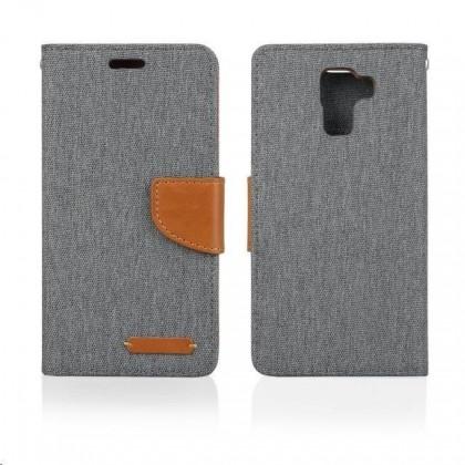 Puzdrá a kryty Aligator púzdro BOOK FANCY pre Samsung Galaxy J1, šedá PBOFAJ1GY