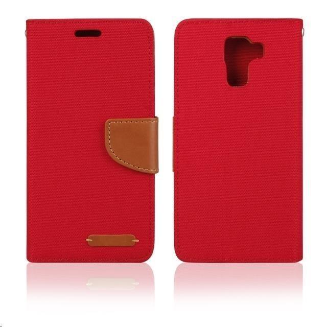 Puzdrá a kryty Aligator puzdro Fancy Book pre Huawei P8 Lite, červená