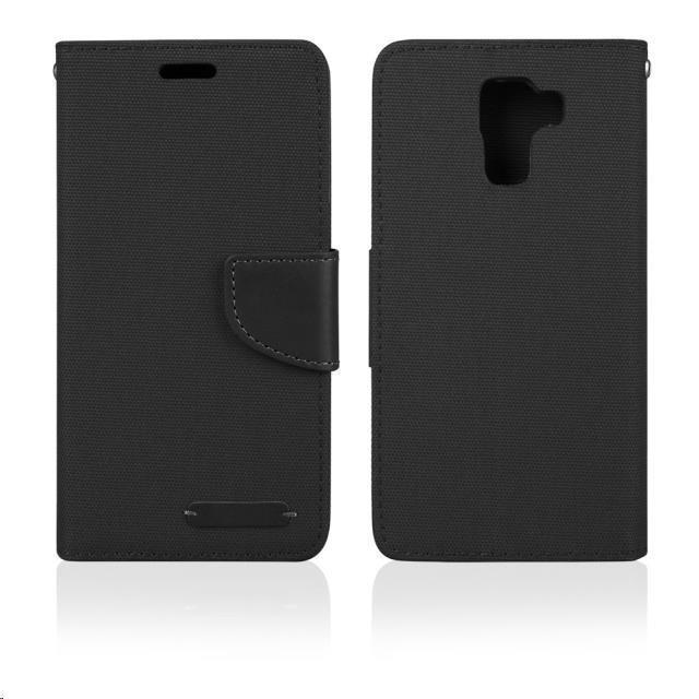 Puzdrá a kryty Aligator puzdro Fancy Book pre Huawei P8 Lite, čierna