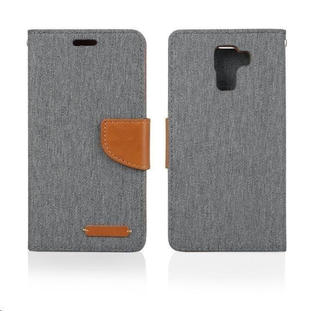 Puzdrá a kryty Aligator puzdro Fancy Book pre Huawei P8 Lite, šedá
