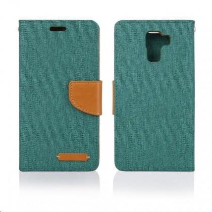 Puzdrá a kryty Aligator puzdro Fancy Book pre Huawei P8 Lite, zelená