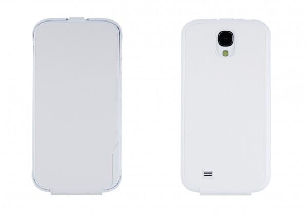 Puzdrá a kryty Anymode flip puzdro pre Samsung Galaxy S4, biela