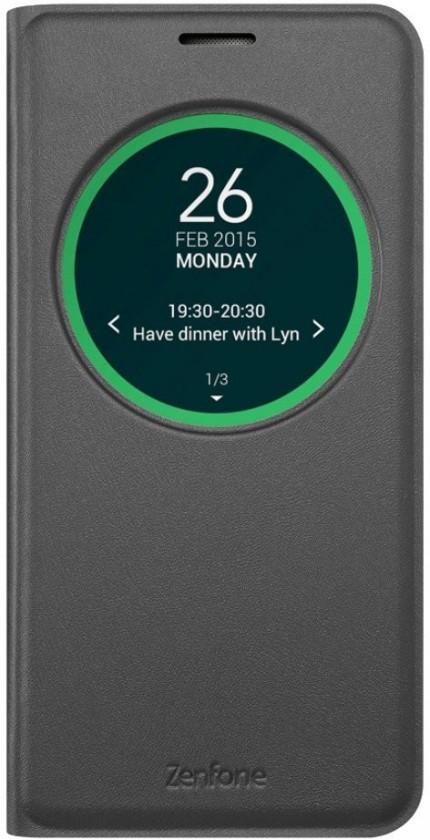Puzdrá a kryty Asus flip puzdro pre ASUS ZenFone Max, čierna