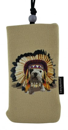 Puzdrá a kryty Bigben univerzálné puzdro na krk Teo Apache, krémová