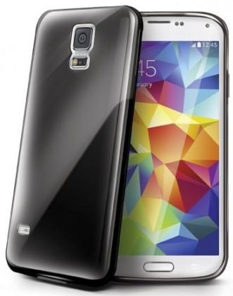 Puzdrá a kryty Celly Gelskin pre Samsung Galaxy S5, čierne