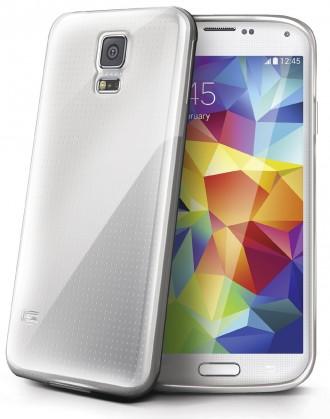 Puzdrá a kryty Celly gelskin pre Samsung Galaxy S5, transparentná