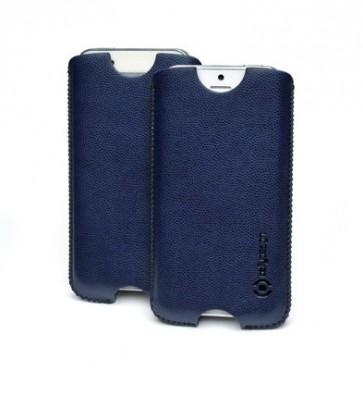 Puzdrá a kryty Celly kožené puzdro pre iPhone 5, modrá