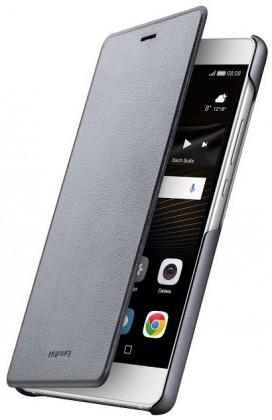 Puzdrá a kryty Huawei flip puzdro Original Folio pre P9 Lite, sivá