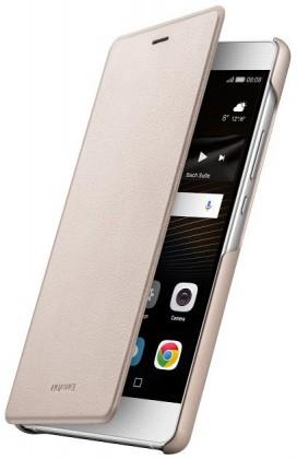 Puzdrá a kryty Huawei flip puzdro Original Folio pre P9 Lite, zlatá