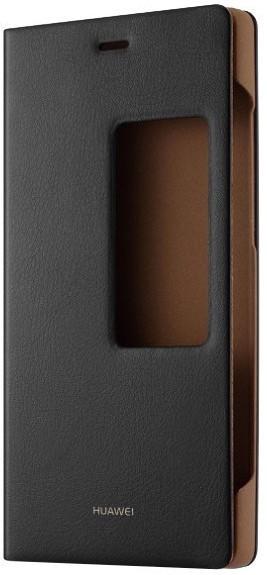 Puzdrá a kryty Huawei puzdro S-View pre Huawei P8, čierna